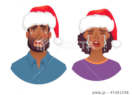 portrait of african man and woman in hat 45361598