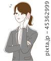 ビジネスウーマン 若い スマートフォンのイラスト 45362999
