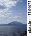 支笏湖と風不死岳 縦構図 45364975