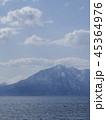 支笏湖と風不死岳と樽前山 縦構図、寄り 45364976
