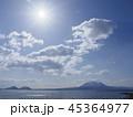 支笏湖と風不死岳と山々 逆光 45364977