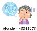 高齢者 女性 薬のイラスト 45365175