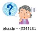 高齢者 女性 薬のイラスト 45365181