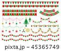 ガーランド クリスマス 45365749