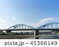 多摩川 鉄橋 風景の写真 45366149