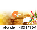 亥 富士山 年賀状 背景  45367896