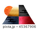 富士山 和紙 年賀状 背景 45367906