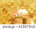富士山 和紙 年賀状 背景  45367910