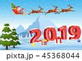 そり 橇 サンタのイラスト 45368044