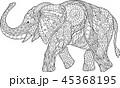 ページ ぞう ゾウのイラスト 45368195