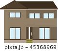家 住宅 一軒家のイラスト 45368969
