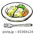 筆描き 食品 ロールキャベツ 45369124