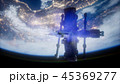 地球 軌道 シャトルのイラスト 45369277
