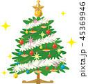 クリスマスツリー クリスマス デコレーションのイラスト 45369946