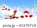サンタ サンタクロース トナカイのイラスト 45370719