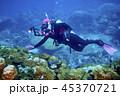 水中 ダイバー 潜水夫の写真 45370721