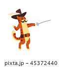 ねこ 刀 剣のイラスト 45372440