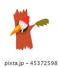 鳥 漫画 イラストのイラスト 45372598