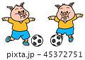 子ブタの少年サッカー 45372751
