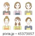 エプロン 主婦 女性のイラスト 45373057