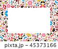 雛祭り お雛様 桃の節句のイラスト 45373166