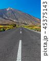 Asphalt Road through the Teide National Park 45375143