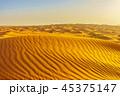 Desert Yellow Sand Dunes Landscape at Sunset 45375147