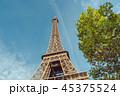 塔 空 エッフェル塔の写真 45375524