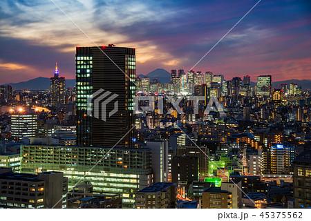 東京新宿方面都市風景 45375562