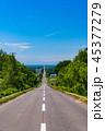 道路 一本道 道の写真 45377279