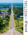 道路 一本道 道の写真 45377281