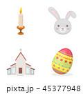 ろうそく うさぎ ウサギのイラスト 45377948