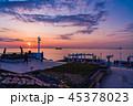 「海ほたる」から眺める東京湾・横浜方面 夕景 45378023
