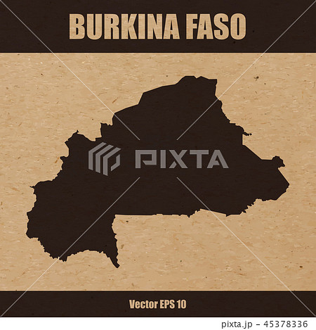 Map of Burkina Faso on craft paper background 45378336