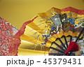 扇子 扇 金色の写真 45379431