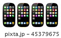 スマートフォン スマホ 携帯電話のイラスト 45379675