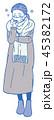 風邪 体調不良 女性のイラスト 45382172