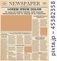 ニュースペーパー 新聞 新聞紙のイラスト 45382358
