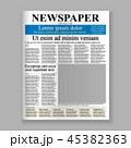 ニュースペーパー 新聞 新聞紙のイラスト 45382363