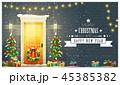 クリスマス ゆき 雪のイラスト 45385382