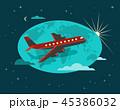 飛行機 フライト 飛行のイラスト 45386032