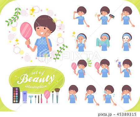 flat type Mash hair women Sportswear_beauty 45389315