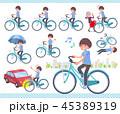 女性 スポーツウエア 自転車のイラスト 45389319