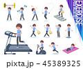 女性 スポーツウエア フィットネスのイラスト 45389325