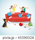少年 子供 児童のイラスト 45390326