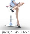 女性 スキンケアイメージ 脚 美脚 perming3DCG イラスト素材 45393272