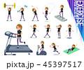 女性 スポーツウエア フィットネスのイラスト 45397517