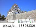 唐津城 城 青空の写真 45398689