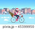 通り 都市景観 プレゼントのイラスト 45399950