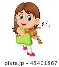 子 子供 女の子のイラスト 45401867